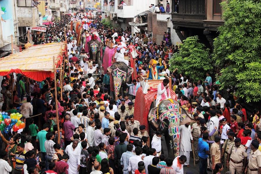 Rath Yatra @ Ahmedabad by Thakkar Mj - People Street & Candids ( ahmedabad, gujarat, peoples, elephant, rathyatra, india, festival, people, crowd, humanity, society )