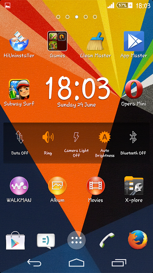 Zig Zag Xperien Theme- screenshot