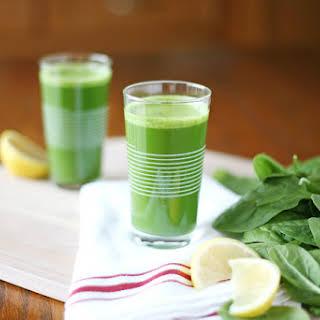 Fresh Pressed Green Juice.