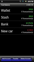 Screenshot of Virtual Checkbook