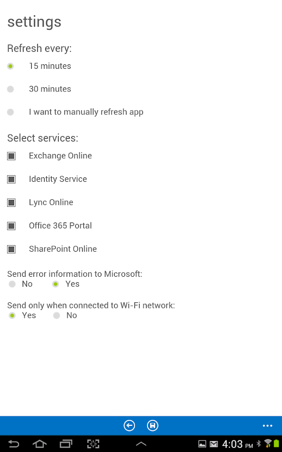 Office 365 Admin - screenshot