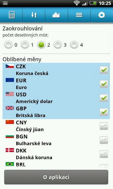 Kurzy měn: Kalkulačka- screenshot