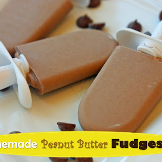 Homemade Peanut Butter Fudgesicle