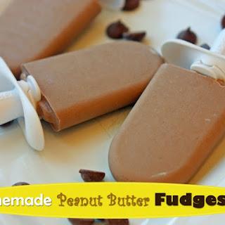 Homemade Peanut Butter Fudgesicle.