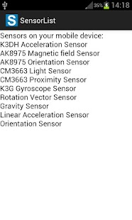 Sensor List- screenshot thumbnail