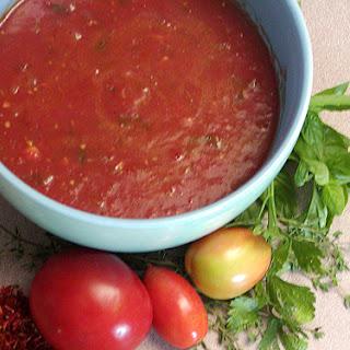 Fresh Tomato Sauce recipe – 71 calories