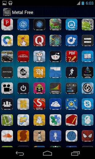 Metal Free(APEX NOVA GO THEME) 1.5.0 screenshots 7
