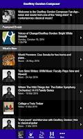 Screenshot of Geoffrey Gordon Composer