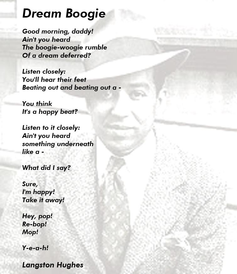 "bop by langston hughes essay The piece ""bop"" by langston hughes is a dialectic expression of the socratic method between two characters: simple and the narrator, ""i""."