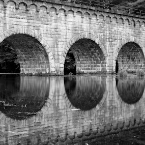 The Wachusett Aqueduct by Sarah Benoit Weir - Novices Only Landscapes (  )