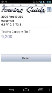 Towing Capacities App - screenshot thumbnail