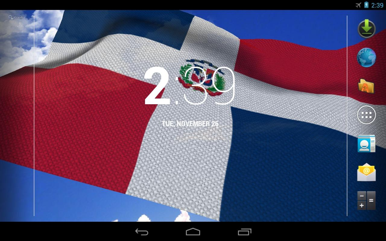 3D Dominican Flag LWP - screenshot