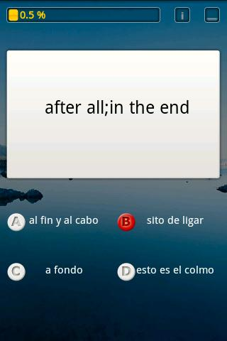 SpanishIdioms : Quiz and Learn - screenshot