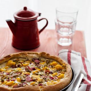 Rhubarb Mango and Passion Fruit Brioche Galette Recipe
