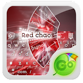 Red chaos GO Keyboard Theme