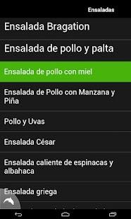 Recetas de Ensaladas - screenshot thumbnail