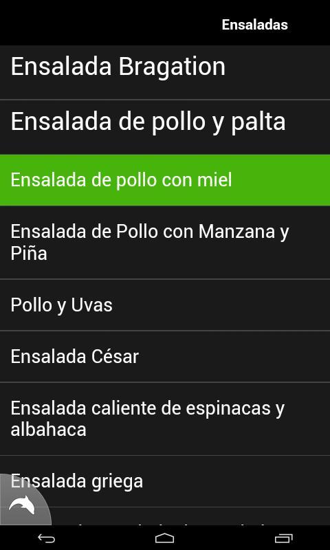 Recetas de Ensaladas - screenshot