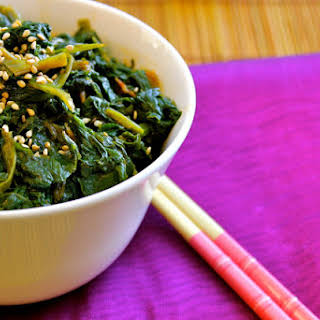 Asian Spinach with Paprika.