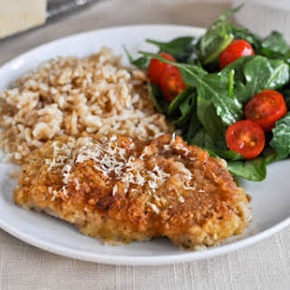 Buttermilk Soaked Baked Parmesan Pork Chops.
