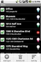 Screenshot of Spoty Lite (Location reminder)