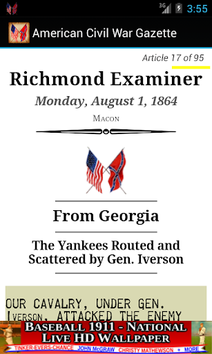 1864 Aug Am Civil War Gazette