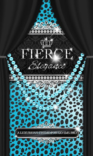 Luxury Theme Teal Cheetah SMS★