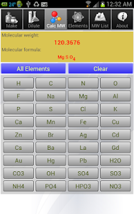 Solution Calculator Lite- screenshot thumbnail