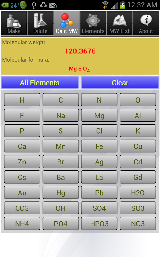 Solution Calculator Lite - screenshot