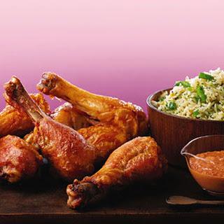 Chicken Drumsticks with Muhammara Sauce