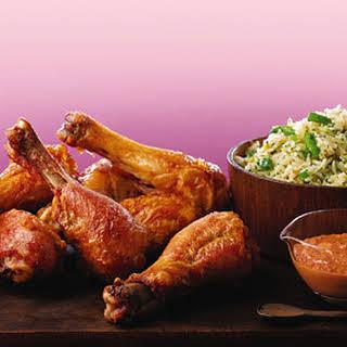 Chicken Drumsticks with Muhammara Sauce.