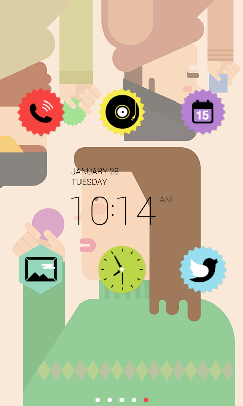 Colorful Sticker dodol theme - screenshot