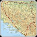 Maps of Bosnia and Herzegovina icon