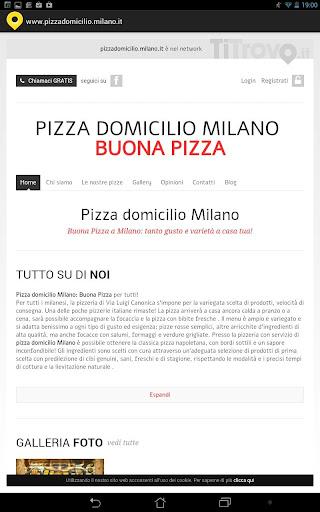Pizzeria domicilio Milano