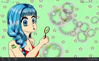 Screenshot of Manga Bubble Girl Wallpaper