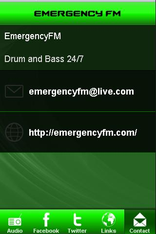 Emergency FM Drum and Bass App- screenshot