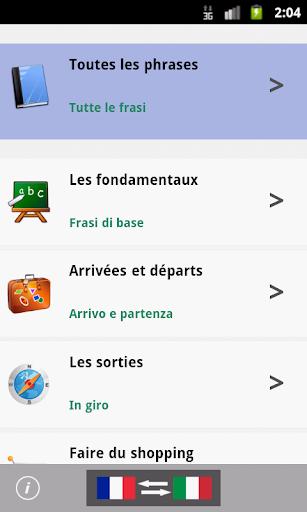 French to Italian Phrasebook