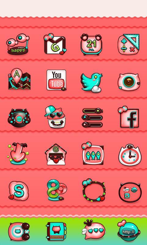 Meow Meow GO Launcher Theme - screenshot