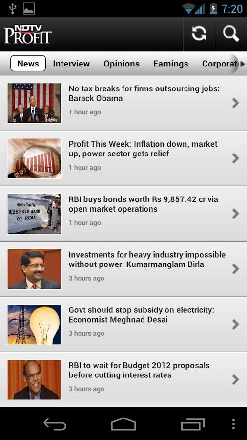 NDTV Profit- screenshot