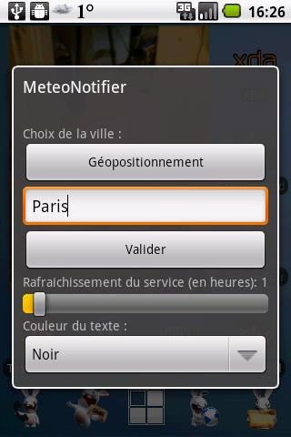 MeteoNotifier- screenshot