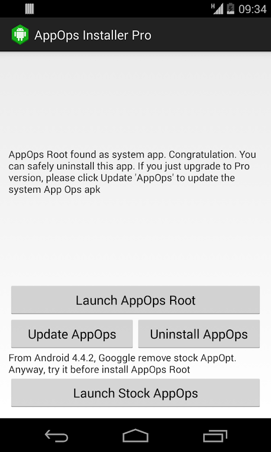 App Ops [Root] - screenshot