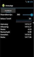 Screenshot of Annuïteiten App