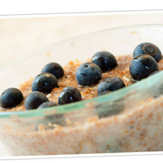 Hot Cereal with Maple Syrup and Blueberries