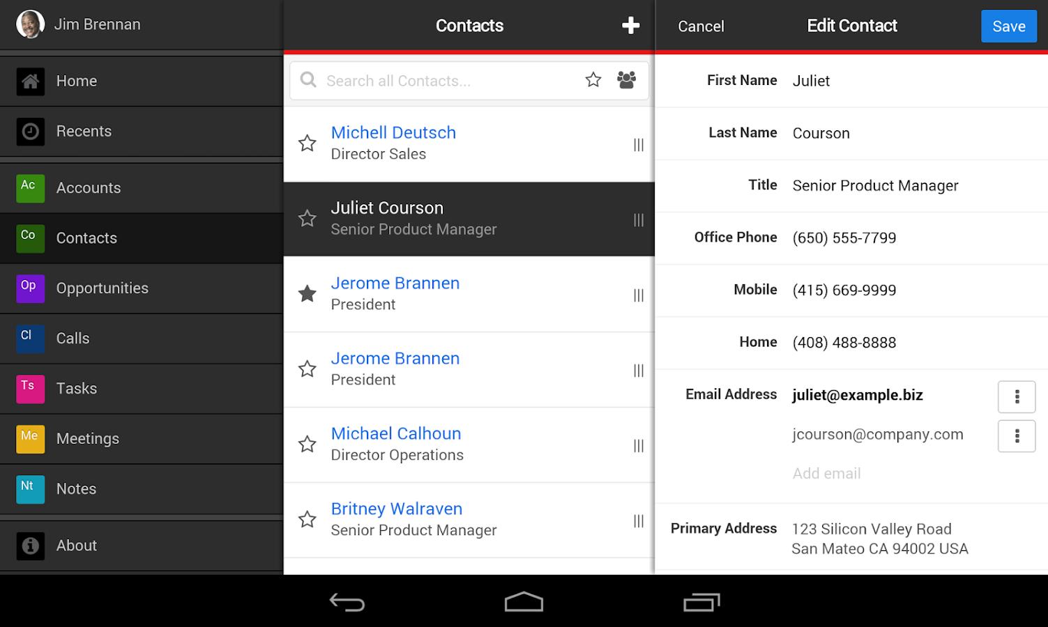 SugarCRM Mobile - screenshot