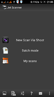 Jet Scanner.  Scan to PDF- screenshot thumbnail