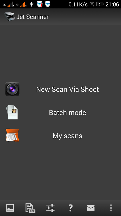 Jet Scanner.  Scan to PDF- screenshot