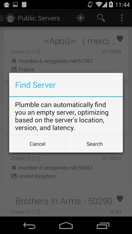 Plumble - Mumble VOIP - screenshot