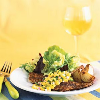 Blackened Yellowtail Snapper with Mango Salsa