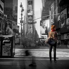 New York Minute by Dave Freeman - City,  Street & Park  Street Scenes ( timesquare, street, nyc, city )