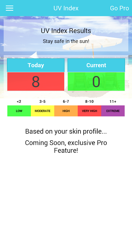 Go Tanning Tan Timer UV Index - screenshot