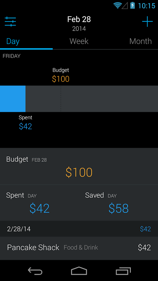 Saved - Budgeting and Expenses - screenshot